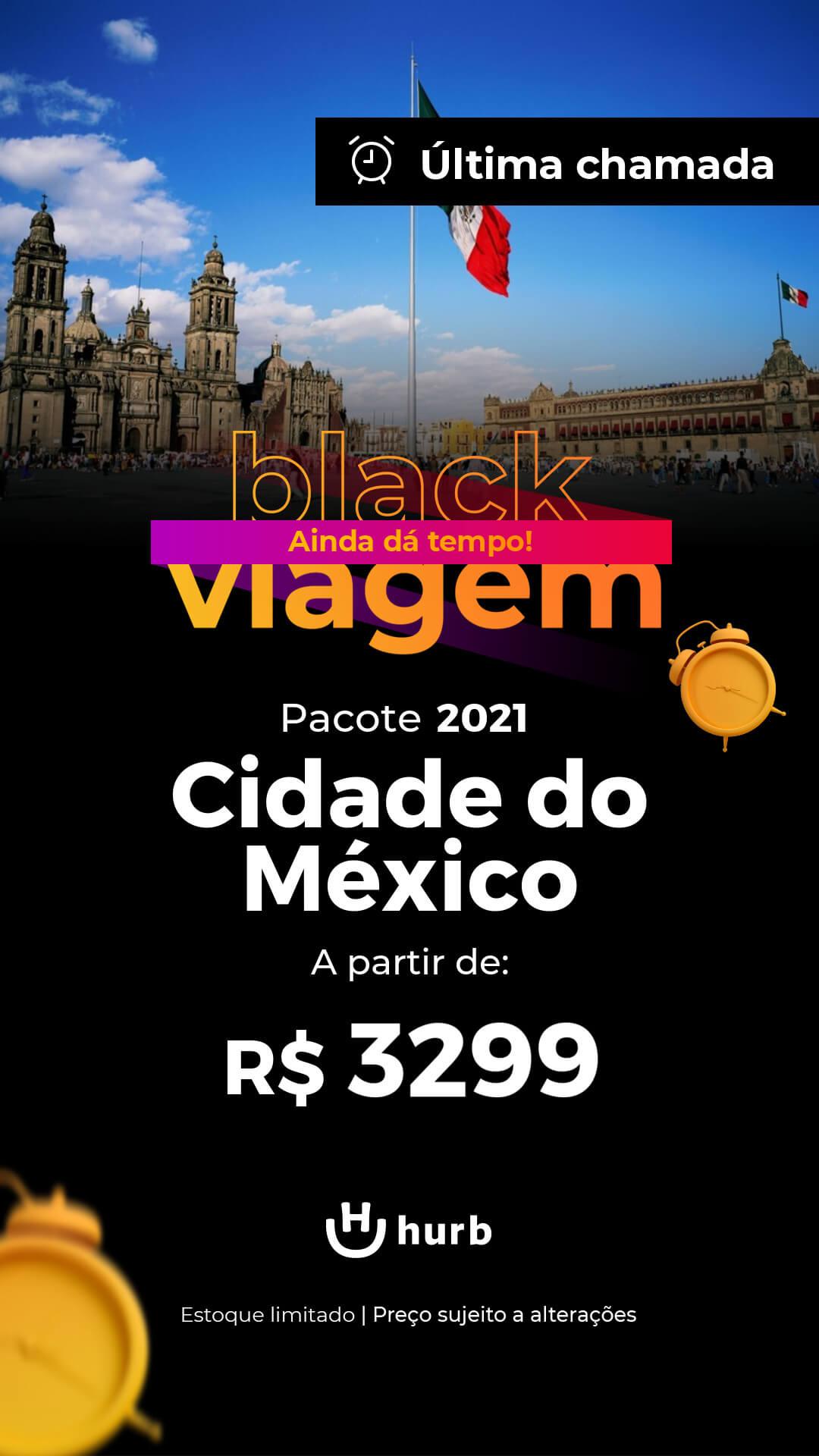 pacote cidade do mexico segundo semestre 2021