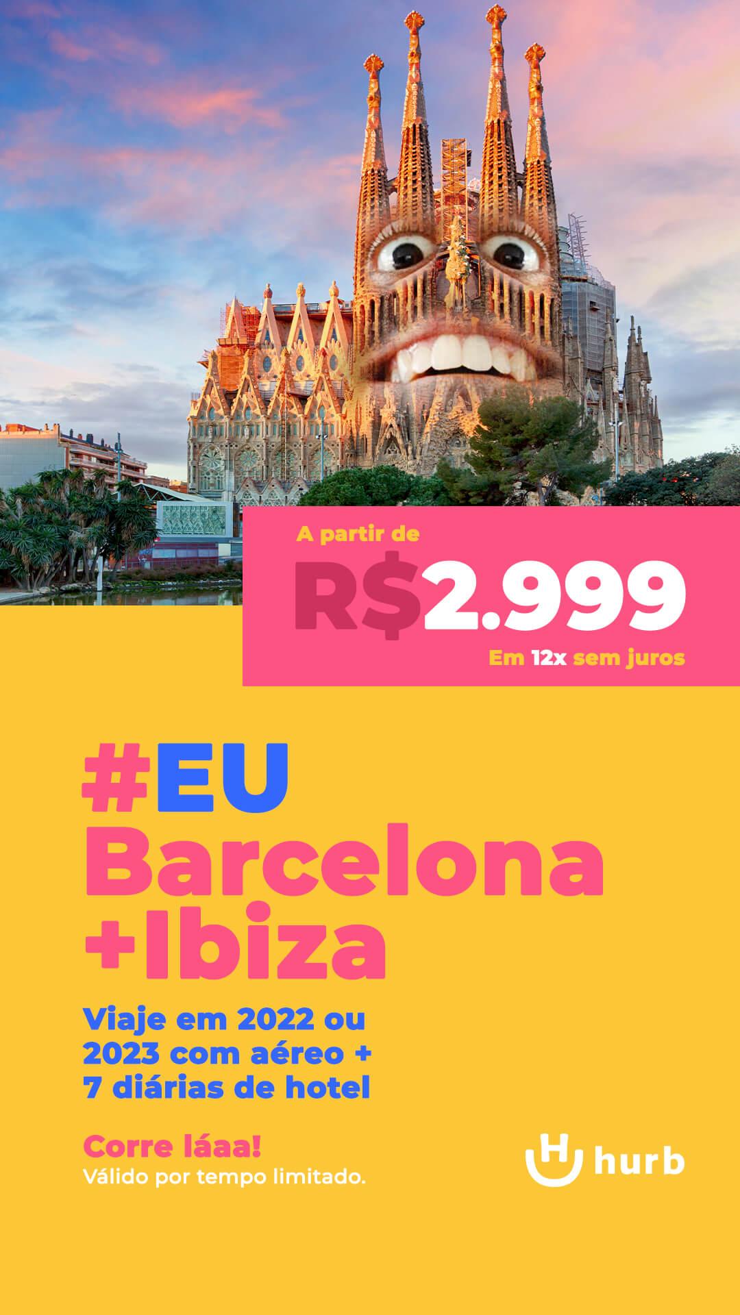 pacote barcelona ibiza 2022 e 2023