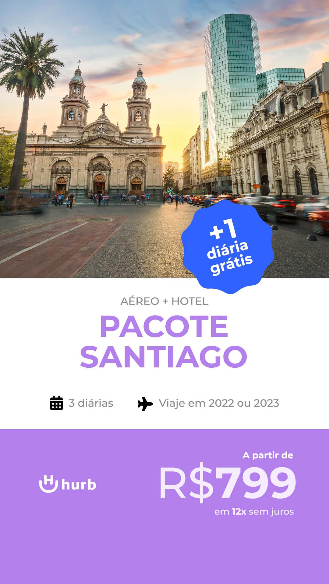pacote santiago com diaria gratis 2022 e 2023